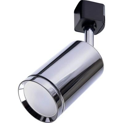 Трековый однофазный светильник под лампу GU10  Хром