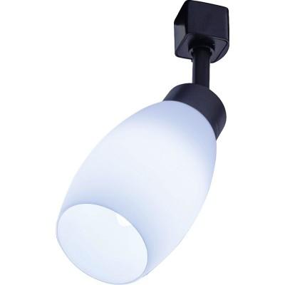 Трековый однофазный светильник под лампу E14 Черный корпус