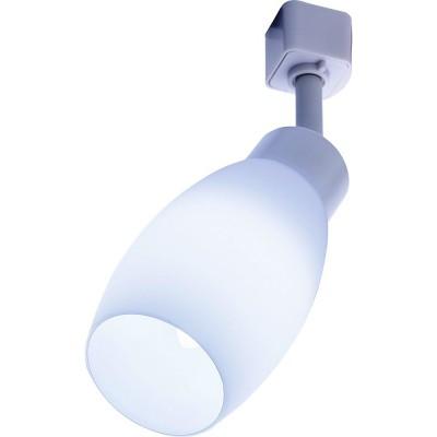 Трековый однофазный светильник под лампу E14 Белый корпус