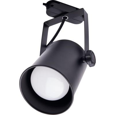Трековый однофазный светильник под лампу E27 Черный корпус