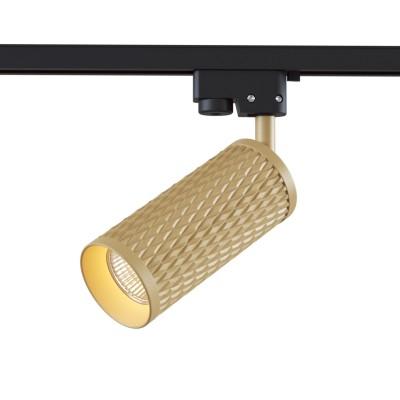 Трековый однофазный светильник под лампу GU10 цвет Золото