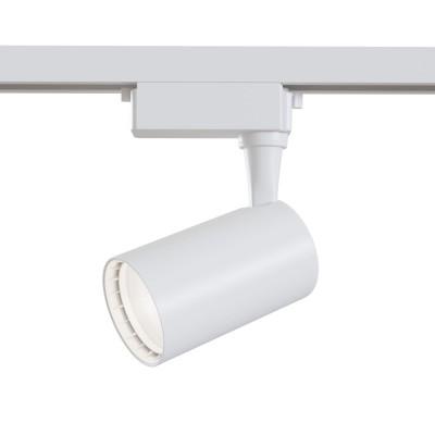 Трековый однофазный светодиодный светильник 6w 3000к цвет Белый
