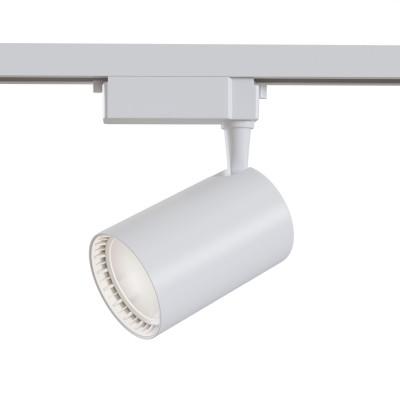 Трековый однофазный светодиодный светильник 12w 3000к цвет Белый