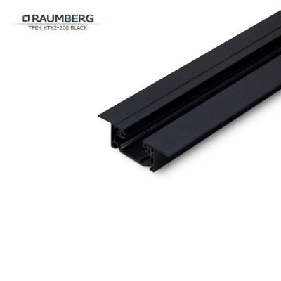 3L Шинопровод однофазный встраиваемый RAUMBERG черный 2м