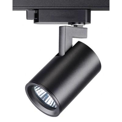 Трековый однофазный светильник под лампу GU10 Черный корпус