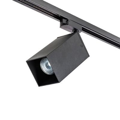 Трековый однофазный светильник RULLO SQ80 под лампу GU10 Черный корпус