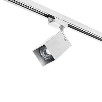 Трековый однофазный светильник RULLO SQ под лампу GU10 Белый корпус