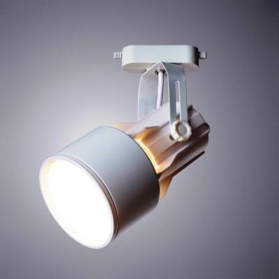 Трековый однофазный светильник под лампу E27 Белый корпус
