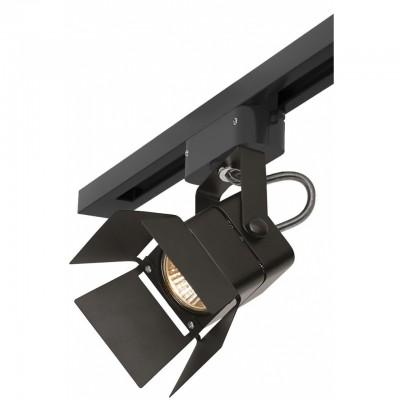 Однофазный трековый светильник под лампу GU5.3 Черный корпус