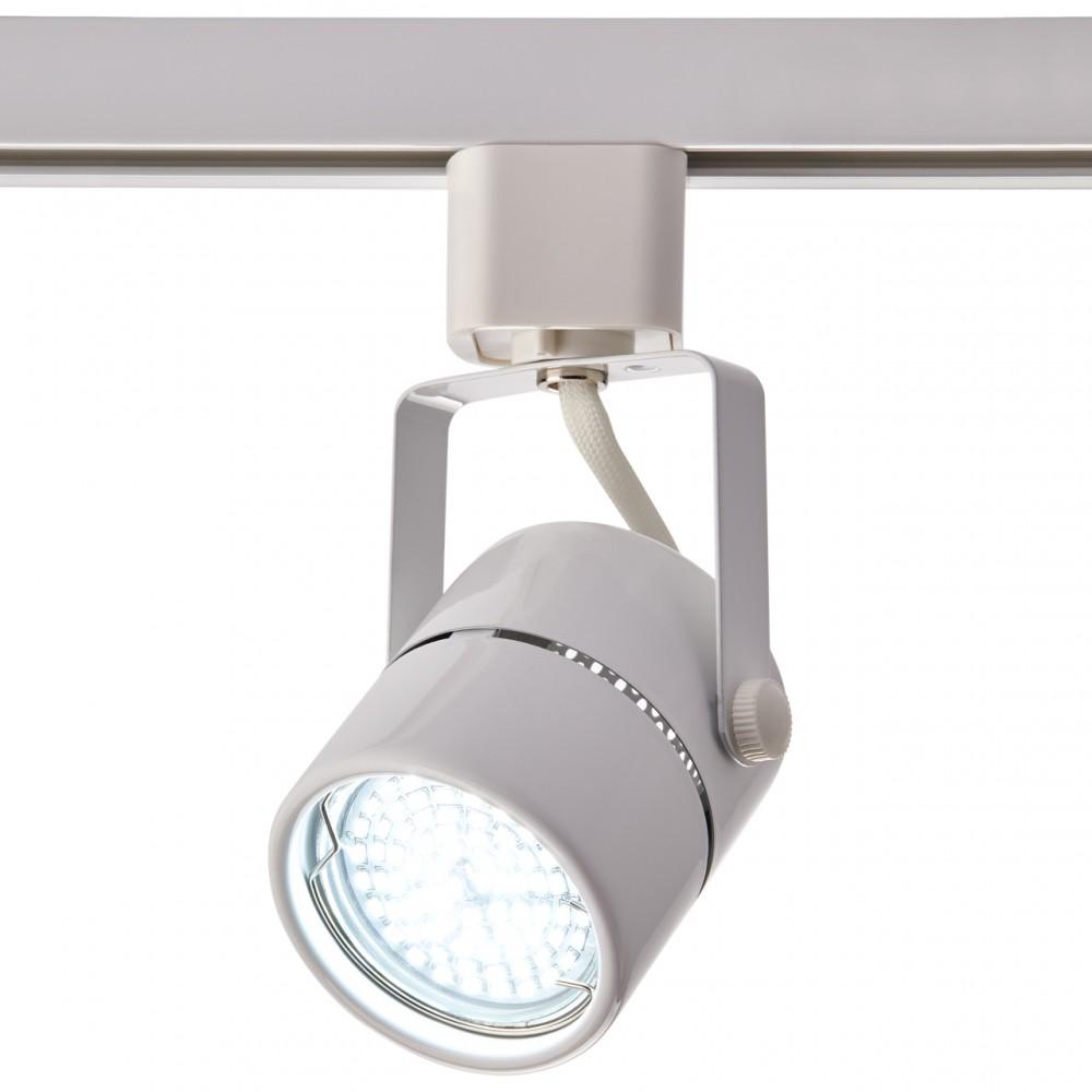 Трековый однофазный светильник под лампу GU5.3 белый