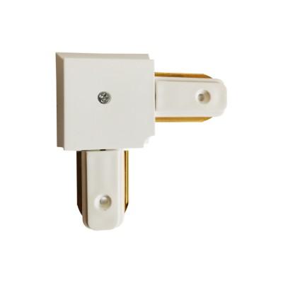 Коннектор угловой для однофазного шинопровода эконом белый
