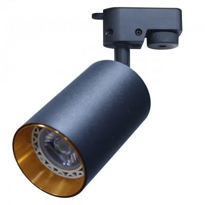 Трековый однофазный светильник под лампу GU10 Черный/золото