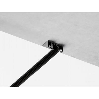 Трехфазный шинопровод 4TRA для натяжных потолков 1000mm Черный