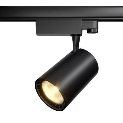 Трековый трехфазный светодиодный светильник Vuoro 30w 3000k Черный корпус
