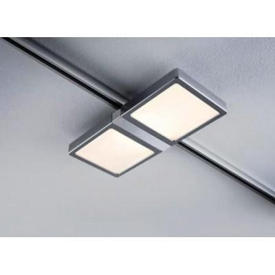 Трековый светильник PANEL DOUBLE LED хром матовый