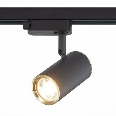 Трековый однофазный светильник ST Luce CROMI под лампу GU10 Черный/золото
