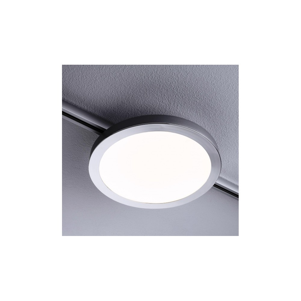 Трековый светильник PANEL SPIN LED хром матовый