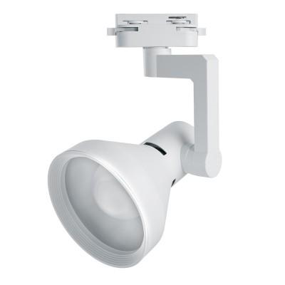 Однофазный трековый светильник под лампу E27 Белый корпус