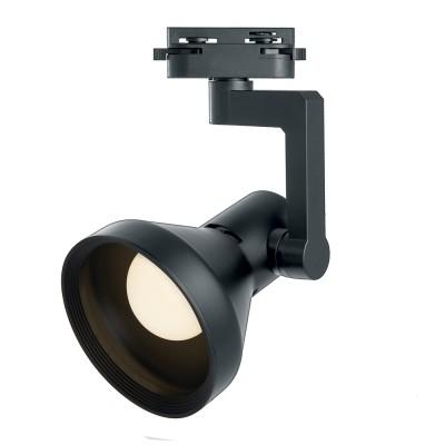 Однофазный трековый светильник под лампу E27 Черный корпус