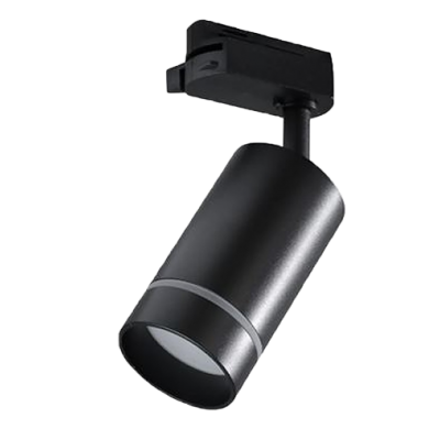 Трековый однофазный светильник под лампу GU10 Черный
