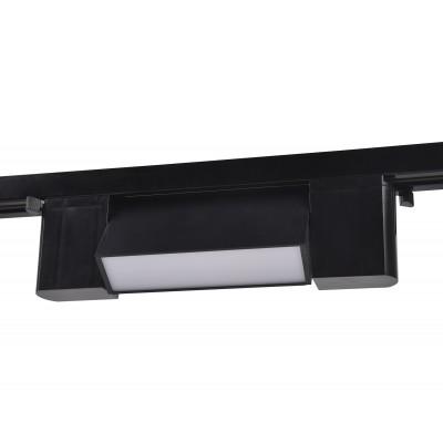 Трековый однофазный светодиодный светильник LED 6W 4200K черный