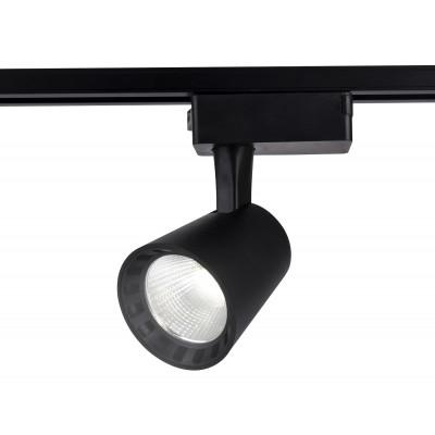 Трековый однофазный светодиодный светильник LED 24W 4200K 24° черный