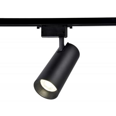 Трековый однофазный светодиодный светильник LED 20W 4200K 24° черный