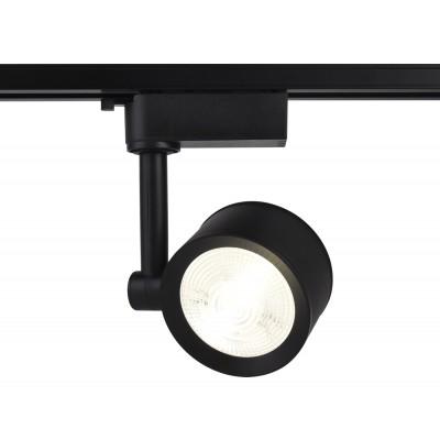 Трековый однофазный светодиодный светильник LED 7W 4200K 24° черный