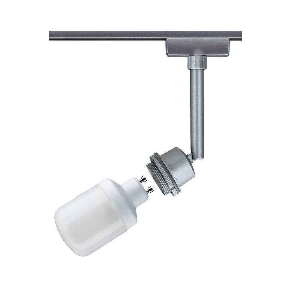 Трековый светильник основа GU10 хром матовый