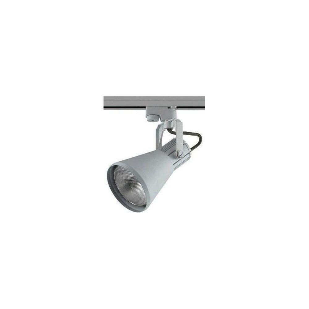 Трековый светильник Е 27 PAR 30 серый