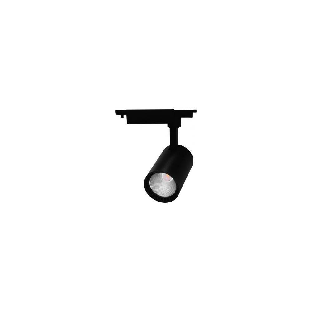 Трековый светодиодный светильник 12Вт 4000К черный