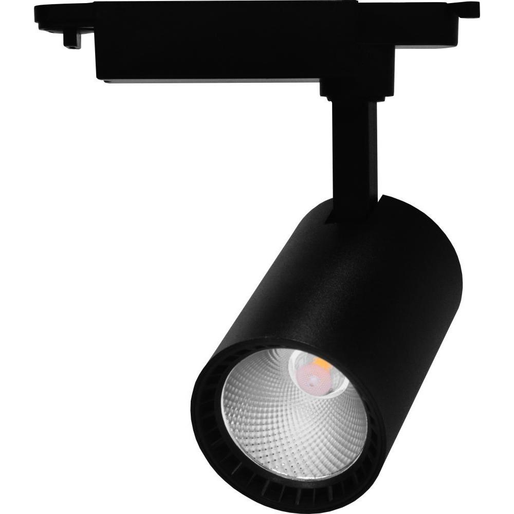 Трековый светодиодный светильник 20Вт 4000К черный