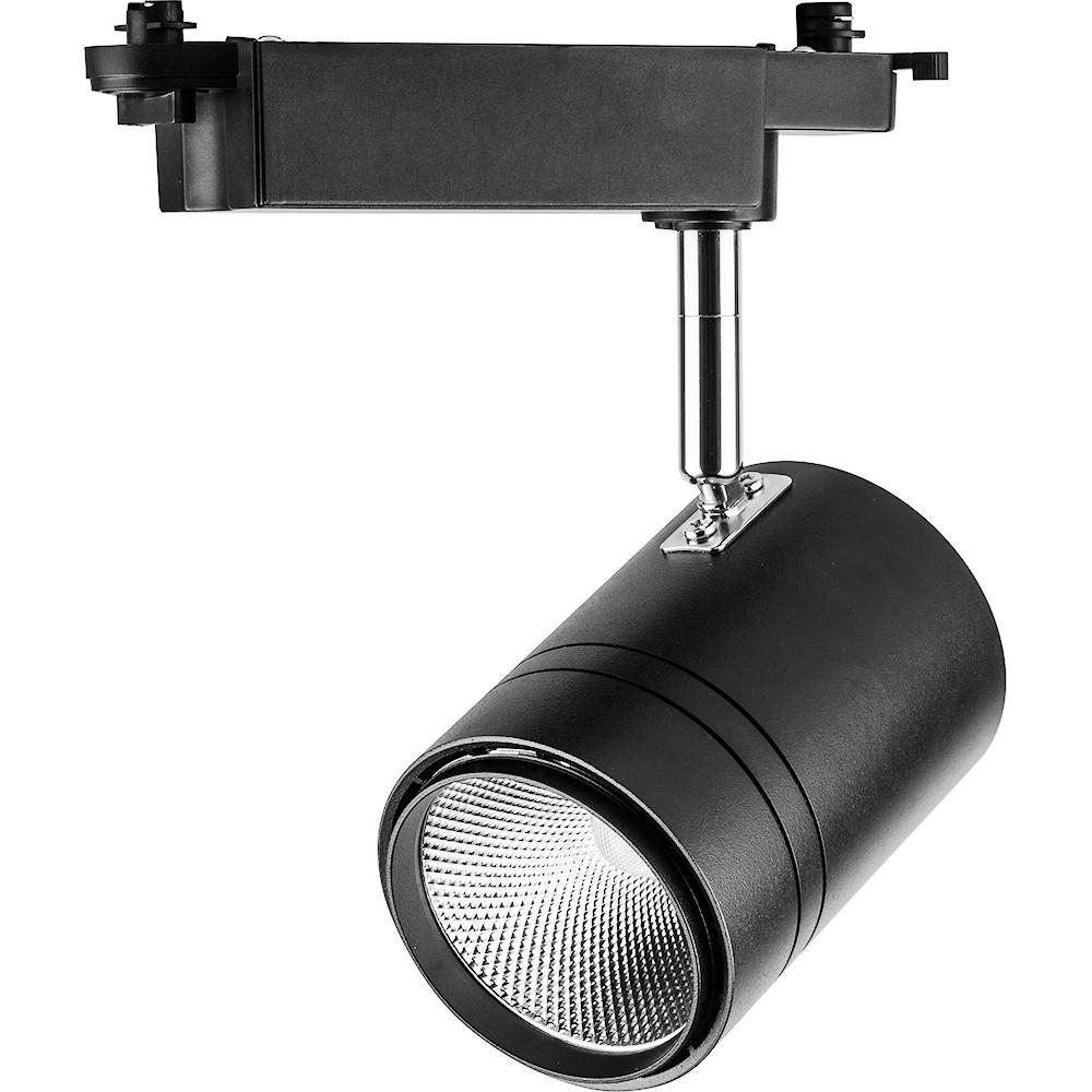 Трековый светодиодный светильник 50Вт 4000К черный