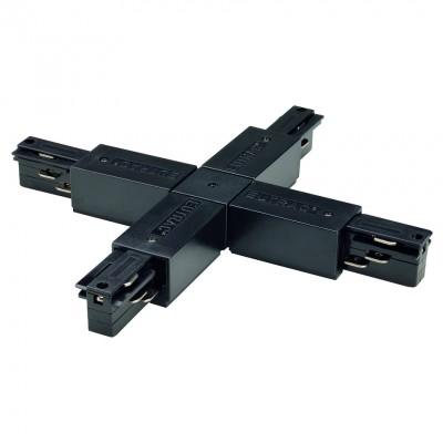 """Соединитель """"Х"""" с токопроводом для трехфазного шинопровода черный"""