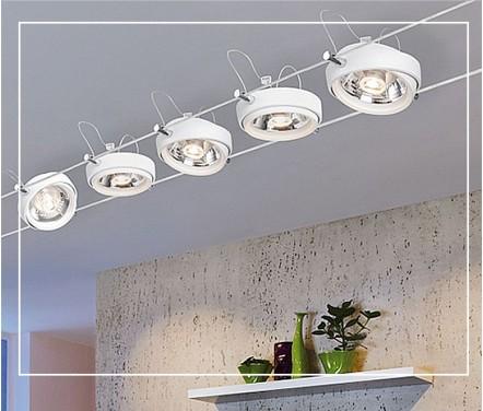 Струнные натяжные светильники